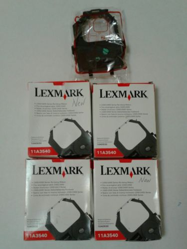 Lot of 5 Lexmark 11A3540 Re-inking Ribbion