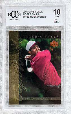 TIGER WOODS UPPER DECK GOLF TIGER'S TALES GRADED CARD PGA MASTERS LEGEND
