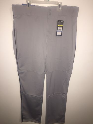 UNDER ARMOUR MENS SIZE X-Large LEADOFF II PIPED BASEBALL PANT GRAY BLACK NWT NEW
