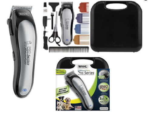 Wahl Pet Grooming Clippers Kit Equipment Cut Dog Hair Rechargeable Quick Charge