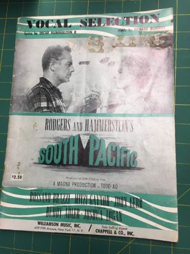 Vocal Selection South Pacific Broadway Piano Music Book Rogers Hammerstein