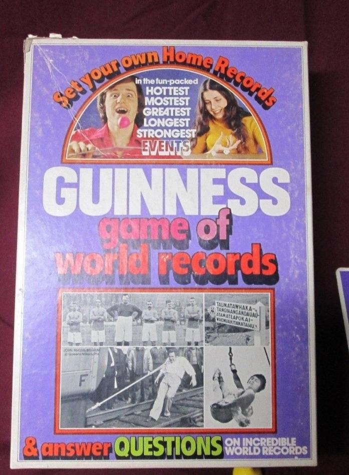 Vintage Parker Brothers GUINNESS GAME OF WORLD RECORDS Game 1975