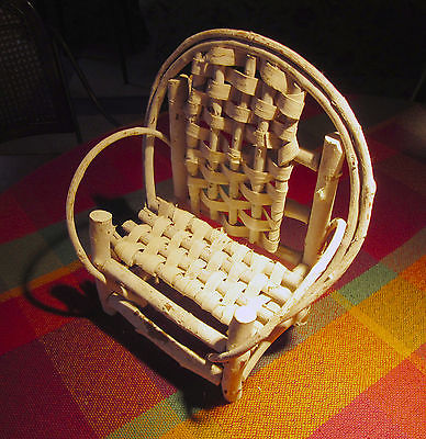 Vintage Minitaure White Bentwood Chair,