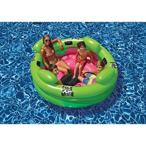 Inflatable Swimming Pool Family Kids Fun Summer Shock Rocker Outdoor Raft Roll