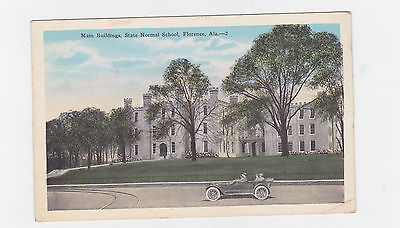 VINTAGE POST CARD MAIN BUILDINGS STATE NORMAL SCHOOL FLORENCE, ALA.
