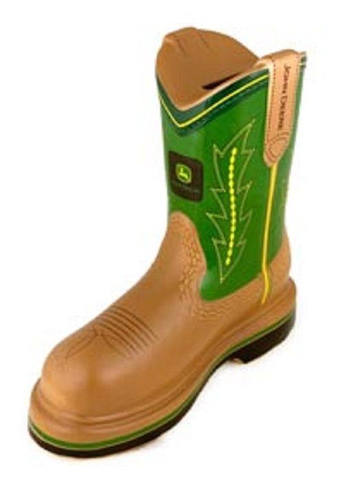 John Deere Green Polyresin Boot Bank