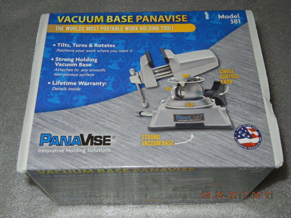 Panavise 381 Multi-Angle Vise, Vacuum, 2-1/2 In clamp, NEW