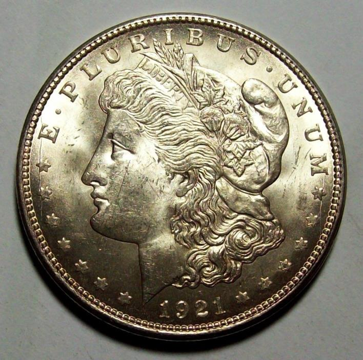 1921 D MORGAN SILVER DOLLAR--GEM UNCIRCULATED--GOOD PICS--FREE SHIPPING LOT #92