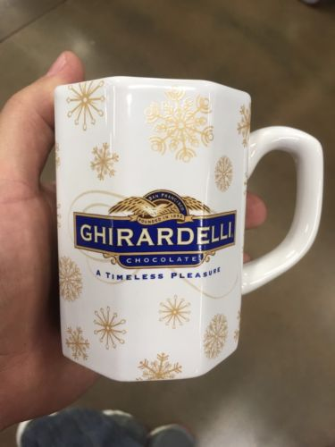 Old Vtg GHIRARDELLI Chocolate Coffee Cup Mug Candy Advertising