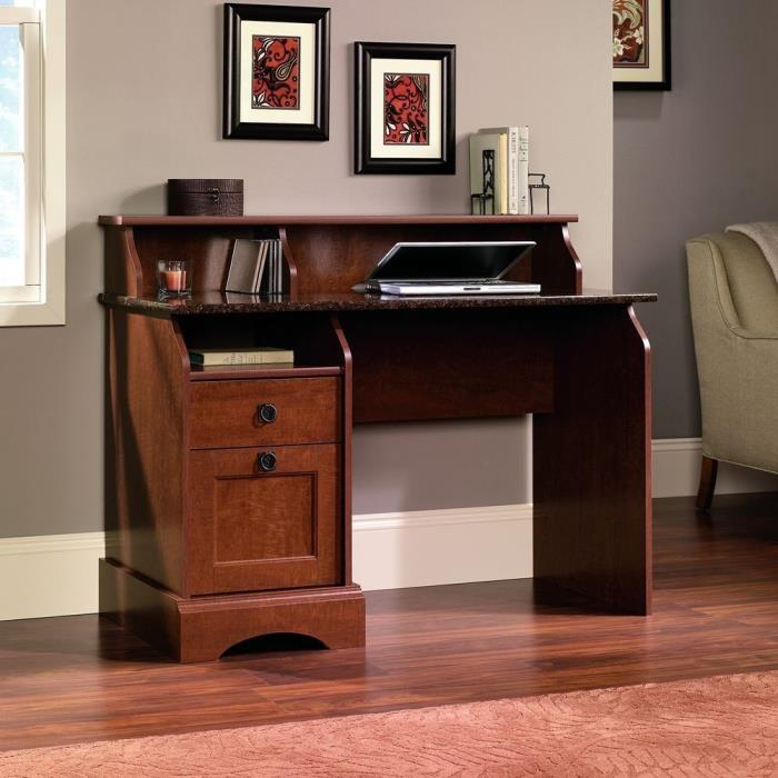Wood Computer Desk Workstation Table Office Home Laptop Storage Drawers Durable
