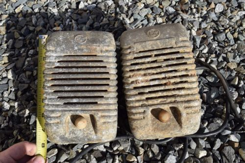 1950s Bangor Maine Drive In Movie Theater Theatre Speaker Lot x2 Projected Sound