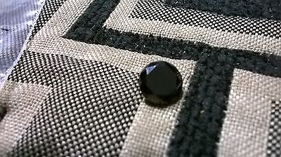3.64 +/- TCW Black Diamond Cut Round Moissanite