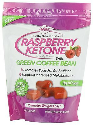 Healthy Natural Systems Diet Supplement Raspberry Ketone Chews Pouch 30 Count