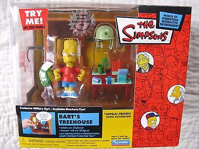 THE SIMPSONS Bart's Treehouse w Military Bart interactive enviro by Playmates