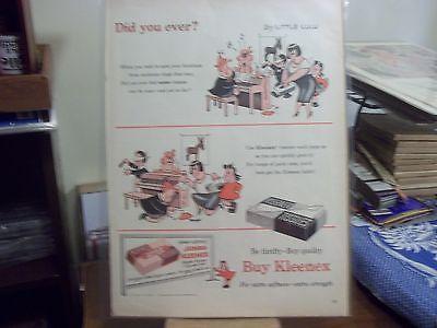 vintage print ad, 1954, Kleenex Tissues