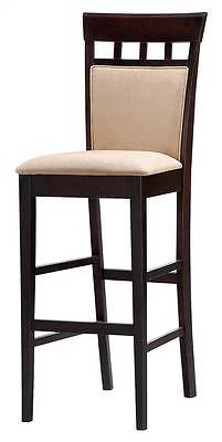 Casual Barstool in Cappuccino Finish - Set of 2 [ID 3188459]