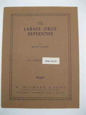 The Labate Oboe Repertoire 1938 Solos with Piano Book 32 Pages Solo