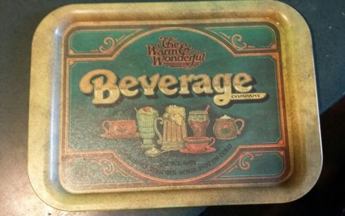 Vintage Warm & Wonderful Beverage Co. Serving Tray -1979 Pentron Industries