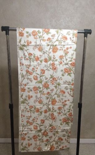 5 Yards Vintage Waverly Charleston Floral Fabric Coral Crease Resistant Chintz
