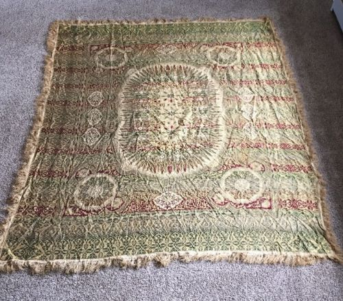 Victorian Antique Edwardian Embroidered Paisley Piano Table cloth Shawl 95x80