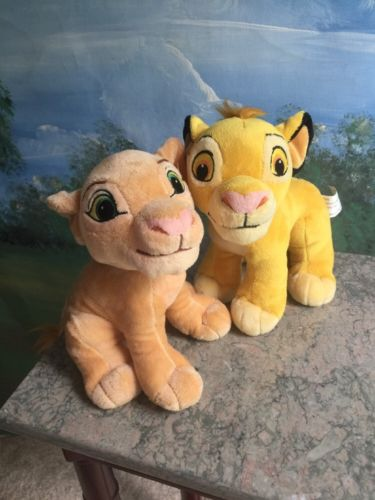 Disney Store Lion King Simba & Nala Plush Stuffed Animal Toys 8