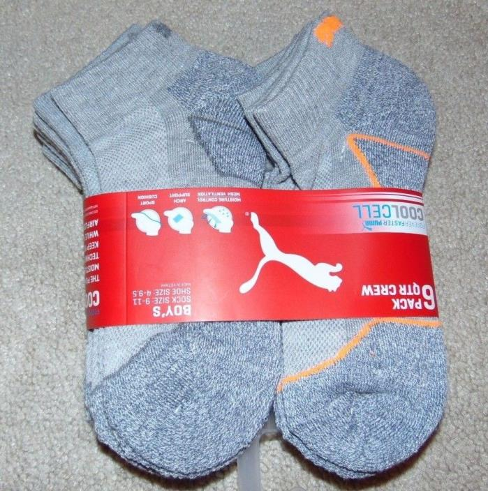 ~6 NWT PUMA Boys Quarter Crew Socks! Sock Size 9-11 Shoe Size 4-9.5 Nice FS:)~