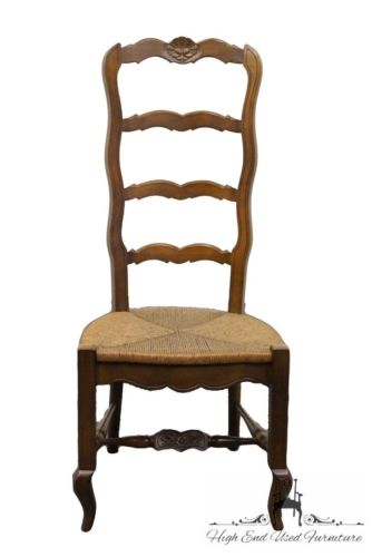 DREXEL French Country Manner Rush Seat Ladderback Side Chair