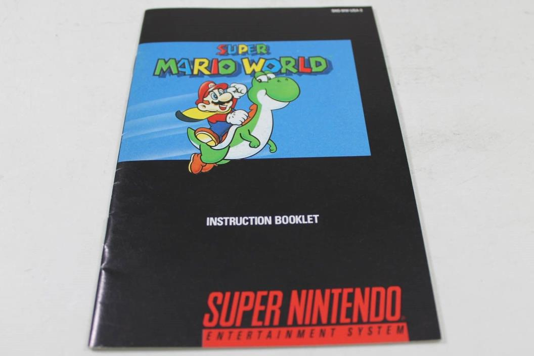 Super Mario World  - Original Super Nintendo Manual