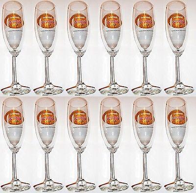 Lot of 12 new Smirnoff Ice Champagne Malt Vodka Football Libbey Flute Glasses