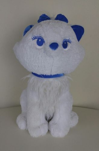 Disney Store Original Ariatocats Blue Bow Version Sitting Marie Character Plush