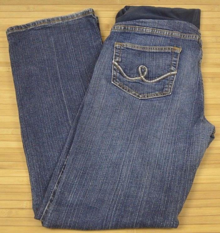 Womens Maternity Blue Jeans Medium Boot Cut Oh baby by Motherhood  (D