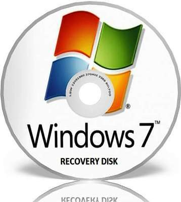 Windows 7 Recovery Disk for all makes of Computer-all Versions of win 7 Included