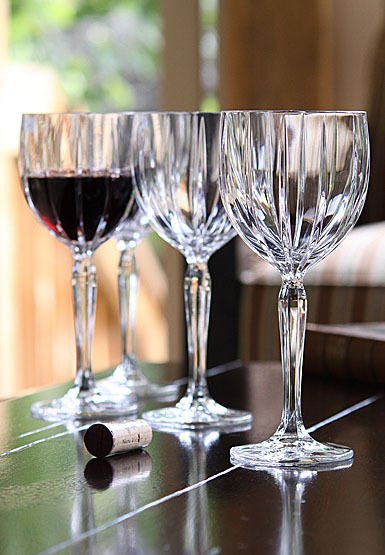 MARQUIS BY WATERFORD OMEGA SET OF 4 ALL PURPOSE WINE GLASSES - NEW IN BOX - BEAU