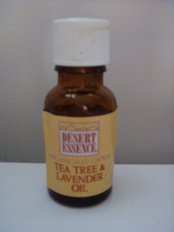 Partial Bottle Organically Grown DESERT ESSENCE 0.6 Fl Oz Lavender Tea Tree Oil