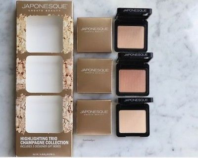 Japonesque create beauty highlighting champagne collection includes 3 gift boxes