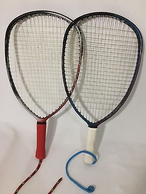 Pair of HEAD Racquetball Racquets:  Blue Colossus 3000 and Red  Colossus 2000