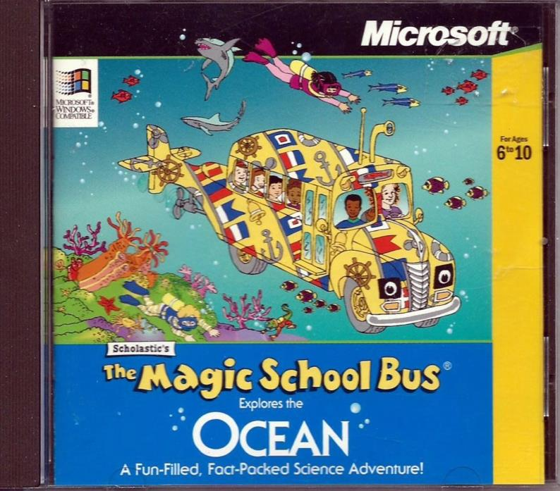 The Magic School Bus Explores The Ocean PC CD Computer Science Game Win95