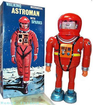 Astroman Tin Toy Windup Robot Japan Osaka Tin Toy