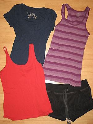 huge lot womens short sleeve shirts tank tops Old Navy XS shorts cute!