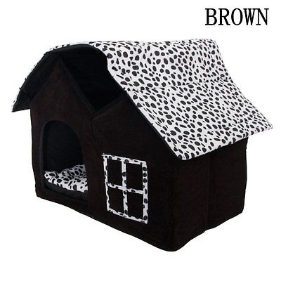 Dog Cat House Petforu Portable Collapsible Luxury Indoor Outdoor Dog Cat Hous...