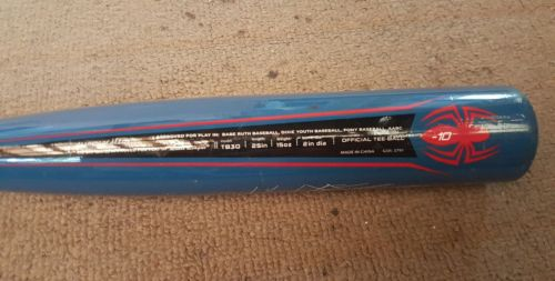 Spiderman Aluminum Alloy Little Youth Easton Baseball Bat TB30 25 / 15oz -10