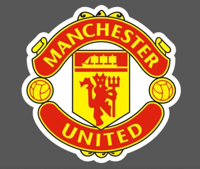 MANCHESTER UNITED STICKER, MANCHESTER UNITED FOOTBALL DECAL STICKER 2.5