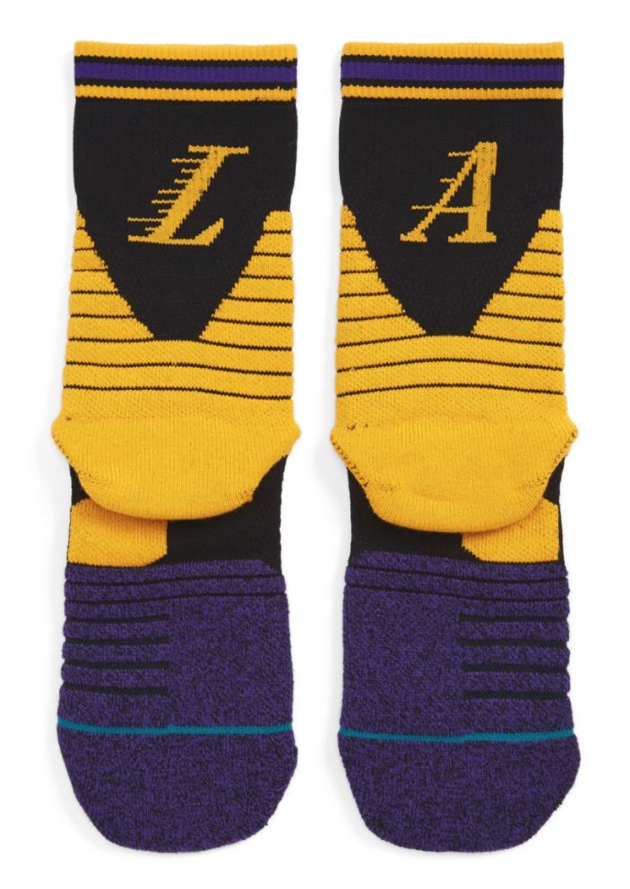 NBA On Court Lakers Logo Socks STANCE XL