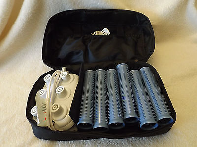 Calista Tools ion long hot rollers with travel bag travel set great condition