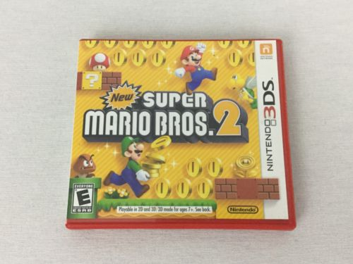 New Super Mario Bros 2 Nintendo 3DS Case And Manual ONLY No Game VG Condition