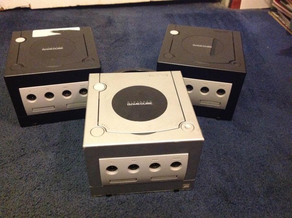 Gamecube Console PARTS/REPAIR Lot of 3