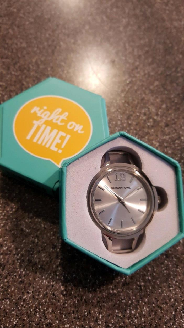 Origami Owl AUTHENTIC Large Silver Twist Watch Base BR5001 BEAUTIFUL Brand NEW