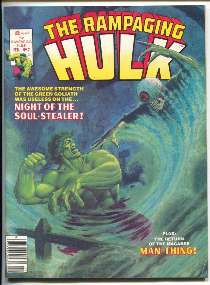Rampaging Hulk 7 Marvel Magazine 1978 VF Jim Starlin Jack Kirby Man-Thing
