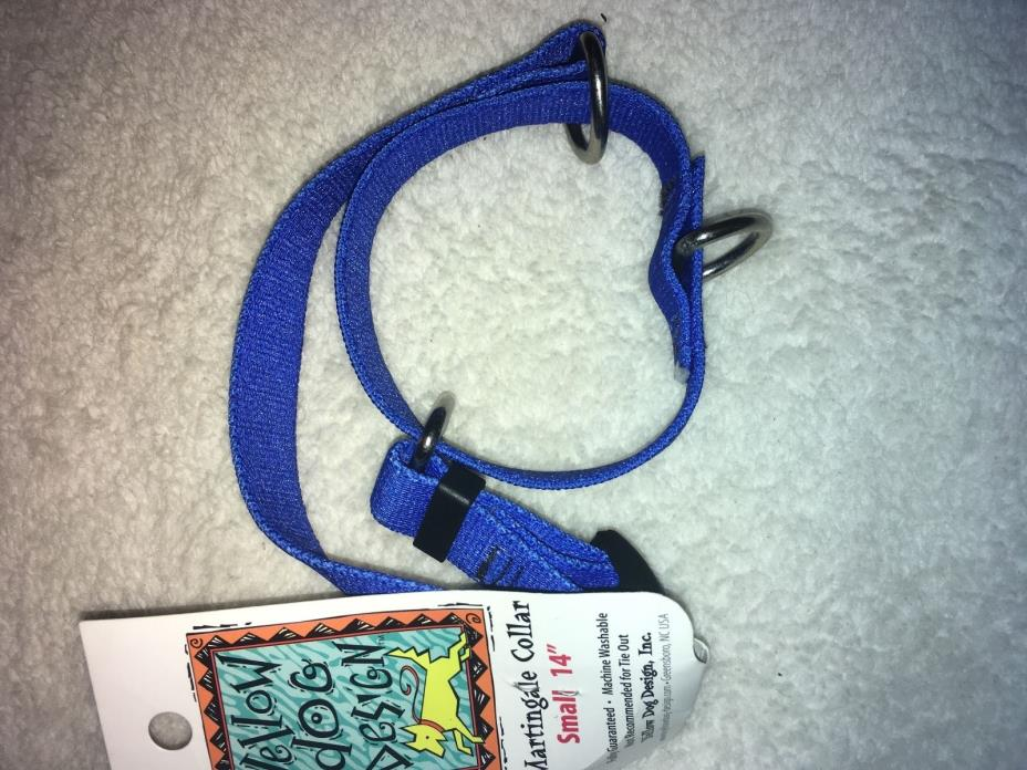 Solid Blue Martingale Dog Collar by Yellow Dog Design, Small 14