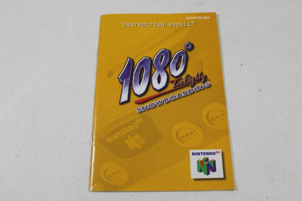 1080 Snowboarding  - Original Nintendo 64 Manual